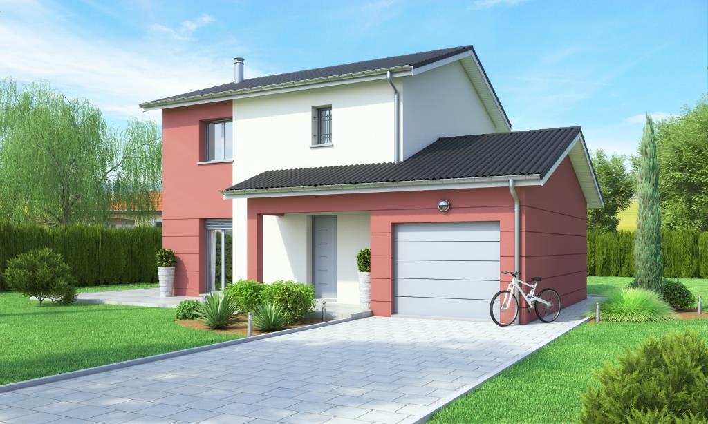 Maison etage contemporaine et terrain meximieux 01800 for Garage rue leon blum villeurbanne