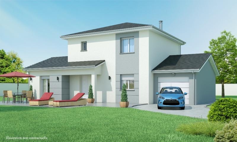 maison individuelle etage contemporaine matin clair slci mod le maison rh ne alpes. Black Bedroom Furniture Sets. Home Design Ideas