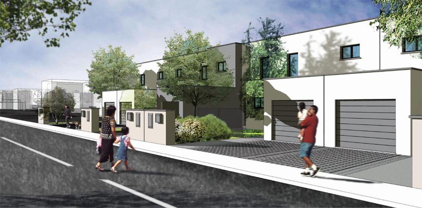 Maison etage design et terrain saint priest 69800 slci for Garage saint priest